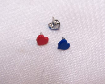 Set of 20 nails in the shape of heart, 7 mm diameter