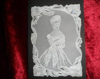 Bridal pattern wedding invitation