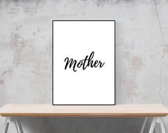 Mother decor print