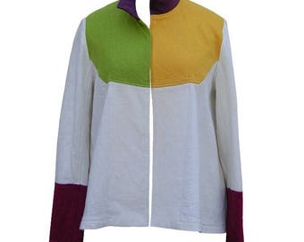 Coat * Kiwi *-hemp and cotton