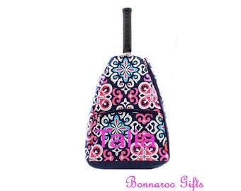 Tennis Racket backpack-Monogram tennis bag-tennis racket bag-personalized tennis racket backpack