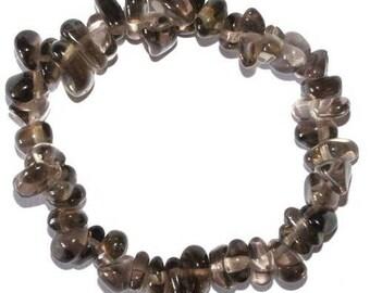 Smoky quartz baroque bracelet