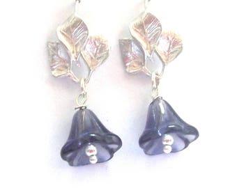 Earrings in silver with Amethyst stones