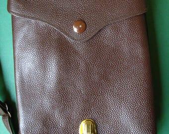 SALE Yugoslavia Military Officer Map Bag - Vintage Leather
