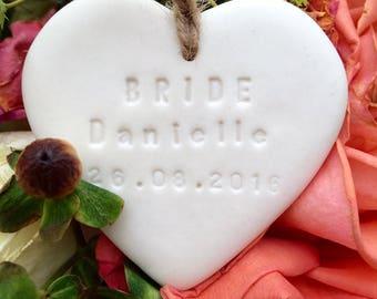 Personalised Bride gift heart