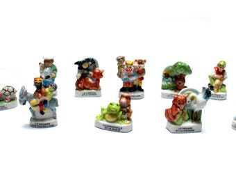 Beans Fables of La Fontaine slab of Kings or collection - gift idea teen, child or collector porcelain
