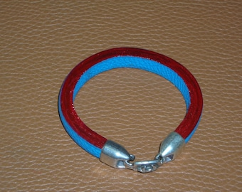Two-tone domed Buffalo leather strap