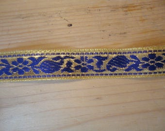 beautiful gold and purple woven Ribbon width 2 cm