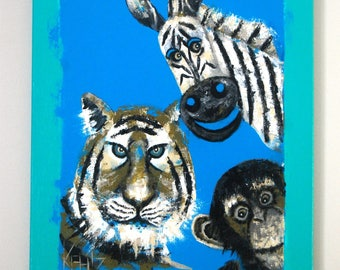 Animal painting for kids room