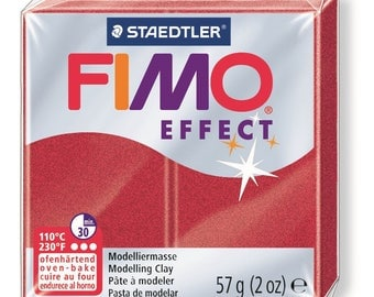 Fimo Effect 57 g - Ruby Red Metallic No. 28 - Ref 68020028