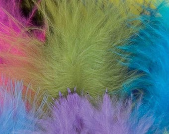 Set of 20 colorful feathers type down - Pracht - Ref 0050-50