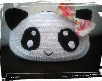 Clutch single crochet panda head