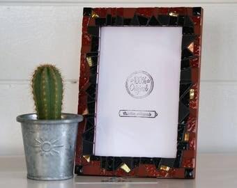 """Picture frame """"Heat Copper / copper heat"""" mosaic"""