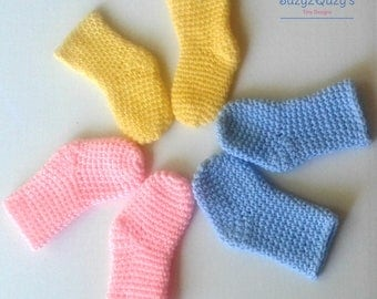 Baby girl socks/Baby boy socks/crochet socks