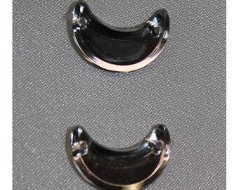 Moonstone-16 mm silver rhinestone