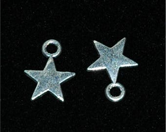 10 charms small stars to five branches12x10mm #706