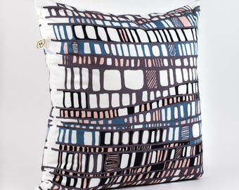 LAYERS TEAL pillow cover