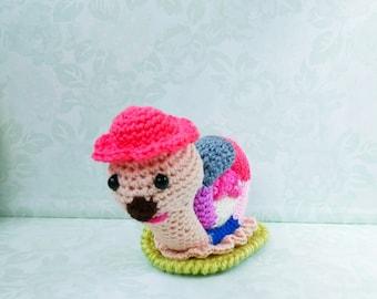 Crochet snail, crochet toy, Amigurumi,Crochet Pattern