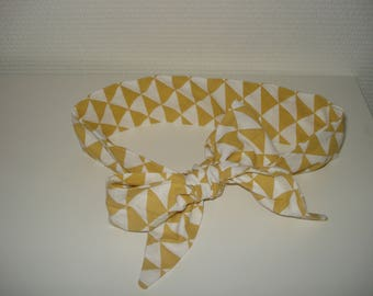 fashionable geometric patterned headband