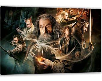 Bilbo Baggins The Hobbit Movie Gandalf Wizard Canvas Wall Art