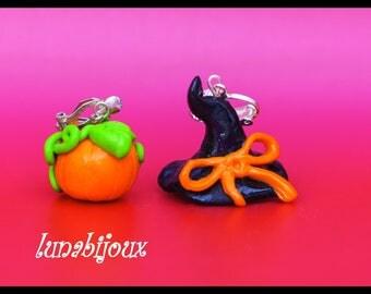 Halloween Jewelry halloween pumpkin witch Hat earrings