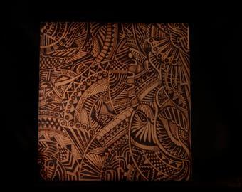 Wood Burned Art Repurposed Wood