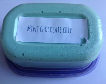 Mint chocolate chip butter slime