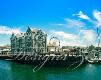 Printable Wall Art - Whispy Moments at Waterfront Cape Town, South Africa, Original Photography print