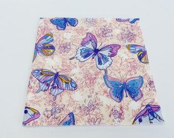 4 blue Purple Butterfly 33 X 33 cm format lunch napkin