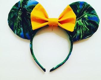Tropical Palm Tree Mouse Ears