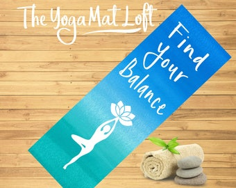 Printed Yoga Mat, Personalized Meditation Mat, Custom Pilates Mat, Custom Yoga Mat, Personalized Exercise Mat, Yoga Lover Gift, Gift for Her