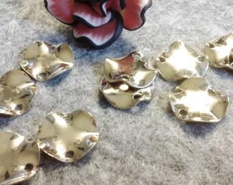 ☆ 10 brass connectors gold connectors, twist, 11 mm round