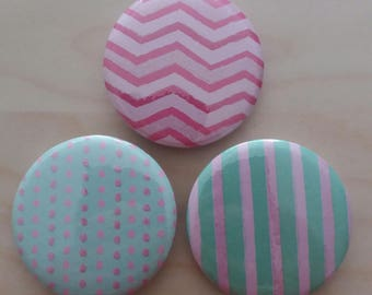 """""""Fancy"""" BADGES, colorful and geometric"""