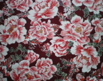 patchwork fabric Japanese flowers