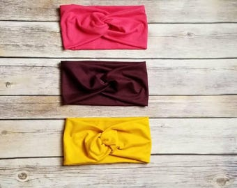 Turban Headbands, Wraps, Double Brushed Polyester, Ear Warmers
