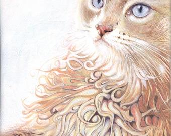 "Painting ""The Norwegian"" cat"