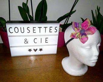 Headband elastic fabric flower