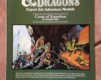 D&D Dungeon Module X3 - Curse of Xanathon by Douglas Niles
