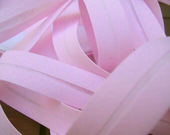 Polycotton bias pink clear