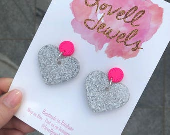 Valentines Day Matte Resin and Clay Dangles