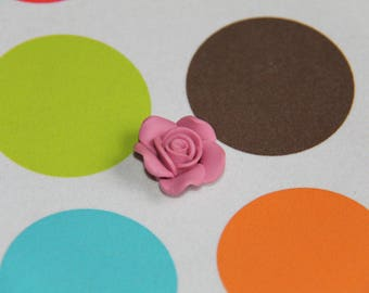 The old rose polymer clay flower bead