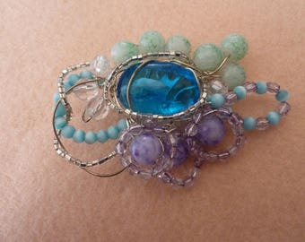 Colored Crystal brooch romantic lucicanti