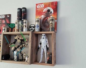 Decorative storage shelf reclaimed wood