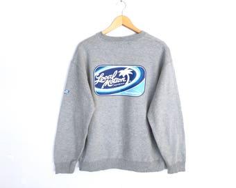 Local Motion Hawaiian Surfing Spellout Pullover Jumper Sweatshirt