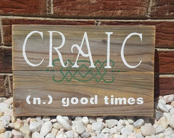 Irish Fun Reclaimed wood sign
