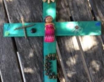Small Goddess Garden Crosses
