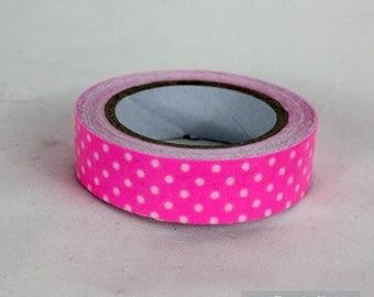 masking tape 15 mm cotton polka dots