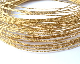 1 meter of metal wire gold 0.8 mm / FMS003