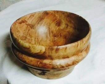 Rock maple burl bowl
