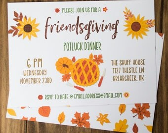 Thanksgiving Invitations Friendsgiving Invitations